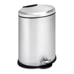 None - Honey-Can-Do 12-liter Oval Stainless Steel Step Trash Can - A contemporary addition to any home or office,this 12 liter trash can boasts a sturdy construction for daily use. The steel foot pedal on this trash can provides hands-free operation to keep germs at bay.