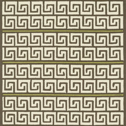 "Loloi Rugs - Loloi Rugs Palm Springs Collection - Brown / Green, 5'-0"" x 7'-6"" - For the first time ever, world renowned designer Dann Foley brings his eye for great design and modern living to outdoorrugs. With patterns and colors as dynamic as Dann's persona, the Palm Springs Collection reflects Dann's passion forfun outdoor decorating. Palm Springs is hand hooked in China of 100% polypropylene that's specially treated to befade-resistant in spite of regular sunshine or rain."
