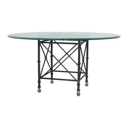 """GILANI - Etruscan Dining Table Base - Etruscan Dining Table Base (Large). Style no: DT9830. 23""""w x 23""""d x 29 1/2""""h."""