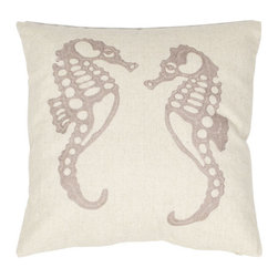 Safavieh Home Furniture - Ivory 18-Inch Decorative Pillows Set of Two - - This Eldon 18-inch Cream/ Taupe Decorative Pillows (Set of 2) features a two taupe-colored seahorses frolic on this cream-toned linen and cotton blend pillow. Cream background with taupe accents highlight this exquisite throw pillow embroidered in petite chain stitches that complement casual lifestyle decorating themes.   - Ivory  - Some assembly required - Yes  - Please note this item has a 30-day manufacturer's limited warranty that covers product defects. Inspect your purchase upon delivery and notify us immediately with any concerns. Safavieh Home Furniture - PIL814A-1818-SET2