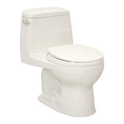 """Toto - Toto MS853113E#01 Cotton Eco UltraMax Eco UltraMax One Piece Round - 1.28GPF One-Piece Round Toilet with SoftClose SeatWhen it comes to Toto, being just the newest and most advanced product has never been nor needed to be the primary focus. Toto s ideas start with the people, and discovering what they need and want to help them in their daily lives. The days of things being pretty just for pretty s sake are over. When it comes to Toto you will get it all. A beautiful design, with high quality parts, inside and out, that will last longer than you ever expected. Toto is the worldwide leader in plumbing, and although they are known for their Toilets and unique washlets, Toto carries everything from sinks and faucets, to bathroom accessories and urinals with flushometers. So whether it be a replacement toilet seat, a new bath tub or a whole new, higher efficiency money saving toilet, Toto has what you need, at a reasonable price.Sleek high profile one piece toilet The Ultimate Suite: Matching toilets and lavatories E-Max (1.28 Gpf/4.8 Lpf) Includes SoftClose seat Fast Flush: Wide 3"""" flush valve is 125% larger than conventional 2"""" flush valves. Wider, 2 1/8"""" computer designed, fully glazed trapway Large water surface Five Year Limited Warranty"""