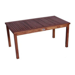 JazTy Kids Solid Teak Rectangular Table - The solid teak JazTy Kids Solid Teak Rectangular Table is designed to accommodate anywhere from two to six children so you never have to worry about running out of space. Ideal for outdoors you can also bring this table inside when it gets cold and use it as a table in your playroom for various crafts and activities. Stained with a golden teak oil finish which is applied directly to the finished wood with no chemical treatment you can choose to let this table age and patina naturally or commercial teak oil can be applied periodically to retain the finished stained teak look. Harvested from sustainable plantations in Indonesia craftsmen use tenon and mortise joinery techniques to construct this gorgeous bench. For extra durability and strength the construction is supplemented with the use of solid stainless steel rust-proof hardware. All of JazTy products come with a 30 day satisfaction guarantee and a limited 4 year warranty. Some assembly required. Additional Features Hand crafted in Indonesia Stainless steel hardware Uses natural wood joinery techniques Durable teak wood withstands the elements Some assembly required 4-year limited warranty About JazTyJazTy is a small family owned business that was founded to provide quality solid wood hand-made heirloom-style furniture for children at moderate prices. Sourced from small Indonesian factories that take pride in their work all of JazTy's furniture is made from 100% solid hardwoods that are green-certified from sustainably harvested forests. All of JazTy's products are inspected by their own quality control staff so you can be assured that only the highest quality pieces are shipped.