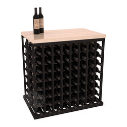 "Wine Racks America® - Double Deep Tasting Table Wine Rack Kit with Butcher Block Top in Redwood, Black - The quintessential wine cellar island; this wooden wine rack is a perfect way to create discrete wine storage in open floor space. INCLUDES a 35"" Butcher Block Top that helps you create an intimate tasting table. With an emphasis on customization, install LEDs or add a culinary grade Butcher's Block top to create intimate wine tasting settings. We build this rack to our industry leading standards and your satisfaction is guaranteed."