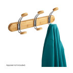 """Safco - Bamboo Wall Rack 3 Hook - Natural - Get long-lasting elegance with the beautiful look of bamboo. This bamboo wall mount rack features three coat hooks to ensure guests always have a place to hang their hat - and coats and scarves too! Bamboo coat racks come with the choice of a Natural Bamboo or Cherry finish and mounting hardware is included. Hook Quantity: 3 - doubles; Mounting Hardware: Included; Limited Lifetime Warranty; Dimensions: 18""""w x 7 3/4""""h x 4 3/4""""d"""