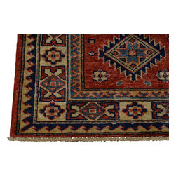 2'x3' 100% Wool Super Kazakh Oriental Rug Hand Knotted Tribal Design Sh18481 - Our Tribal & Geometric hand knotted rug collection, consists of classic rugs woven with geometric patterns based on traditional tribal motifs. You will find Kazak rugs and flat-woven Kilims with centuries-old classic Turkish, Persian, Caucasian and Armenian patterns. The collection also includes the antique, finely-woven Serapi Heriz, the Mamluk Afghan, and the traditional village Persian rug.