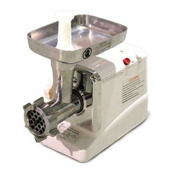 Omcan SM-G50 Electric Meat Grinder - Some projects are simply too demanding to be handled manually. Made from anodized aluminum and built for portability and convenience, the Omcan SM-G50 Electric Meat Grinder is ideal for such products and in-home use. Features a 375 watt, 110 volt, 0.5hp motor and comes complete with a built-in reverse switch and circuit breaker. Product set includes plates, tray, meat pusher, and sausage stuffing tubes.About Omcan A leading supplier to the food service industry for over 40 years, Omcan Inc. provides its customers with diverse, dependable, and proven products. This is a brand that has supported the food service industry in the USA, Canada, Europe, and Asia. And with a 200,000-square-foot warehouse stocked with over 2,000 quality products at any given time, their friendly customer service team can always meet your orders quickly and easily. Make your restaurant better with Omcan food equipment and food preparation supplies!