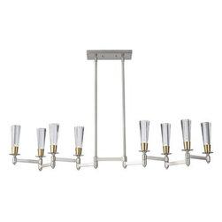 Feiss Lighting - 8 - Light Billiard - Feiss Lighting F2815/8BN/NB  in Brushed Nickel/Natural Brass