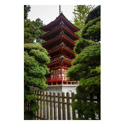 Pagoda, Limited Edition, Photograph - This pagoda rises from the manicured perfection of the Japanese Tea Garden in San Francisco. The print is matted to 16 x 20.