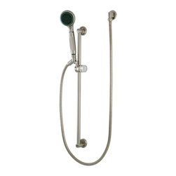 """Kingston Brass - Satin Nickel Made to Match 5 Piece Shower Combo KSK1808W8 - High Quality Brass Construction, 4 Pieces Shower Combo, Matching Accessories Available, Brass Supply elbow,24"""" shower Slide Bar,59"""" Hose and 5 Function Hand Shower(KSH2521).. Manufacturer: Kingston Brass. Model: KSK1808W8. UPC: 663370027741. Product Name: Kingston Brass 5 Piece Shower Combo. Collection / Series: Made to Match. Finish: Satin Nickel. Theme: Classic. Material: Brass. Type: Accessories. Features: High quality brass construction"""