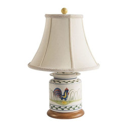 Pre-owned Rooster Lamp - This brightly colored lamp is cheerful and is the perfect table lamp for your country kitchen!