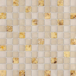 Serene Mother of Pearl Glossy & Matt Square Pattern Glass Mosaic Tiles, Sample - 1 in. x 1 in. Serene Mother of Pearl Mesh-Mounted Square Pattern Glass Mosaic Tile Seashell Deco Inserts is a great way to enhance your decor with a traditional aesthetic touch. This Glossy & Matt Mosaic Tile is constructed from durable, impervious Glass material, comes in a smooth, unglazed finish and is suitable for installation on floors, walls and countertops in commercial and residential spaces such as bathrooms and kitchens.