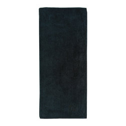 MU Kitchen Microfiber Towel Black - These beautiful kitchen towels are made from the revolutionary microfiber  a specially designed cloth that is woven in a unique pattern from polyester fibers that create tiny scoops that suck up dirt and attract micro-particles. Microfiber is softer than silk and stronger than cotton. The cloth is so well crafted  it renders harsh cleaning chemicals entirely unnecessary.Product Features                      Microfiber          Lint and streak free cleans and polishes like no other wet or dry          Nonabrasive and safe on virtually any surface          Super absorbent - holds 7 times its weight in liquid          Quick drying - 10 times faster drying time          Reduces bacteria growth with quick drying time          Finished with a hanging loop for convenience