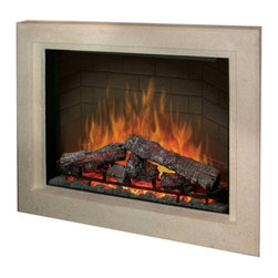 "Dimplex - Dimplex 33"" Picture Frame Surround - Dimplex - Electric Fireplaces - BF33DXPBSSTN - The beautiful stone styling of the picture frame surround suits any contemporary decor. The simple line frames the built-in firebox for a clean attractive look."