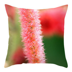 """BACK to BASICS - Tropical Flower I Pillow Cover, 20x20 - Throw Pillow Cover made from 100% spun polyester poplin fabric, a stylish statement that will liven up any room. Individually cut and sewn by hand, the pillow cover measures 16"""" x 16"""", 18"""" x 18"""" or 20"""" x 20"""" depending on the size you choose, features a double-sided print and is finished with a concealed zipper for ease of care."""