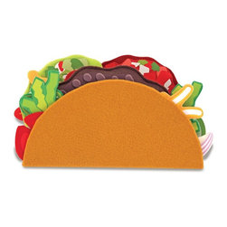 "Melissa & Doug - Melissa and Doug Felt Food - Taco Set Multicolor - 3975 - Shop for Cooking and Housekeeping from Hayneedle.com! Get your kids away from the TV and other electronics with the Melissa and Doug Felt Food - Taco Set. Designed to encourage hours of imaginative play your kids will love making you a special dinner at your request. With a variety of mix and match toppings your kids can come up with new ideas for delicious tacos and may even want to try a few for real. About Melissa & Doug ToysSince 1988 Melissa & Doug have grown into a beloved children's product company. They're known for their quality educational toys and items and have grown in double digits annually. The Melissa & Doug company has been named Vendor of the Year by such great retailers as FAO Schwarz Toys R Us and Learning Express and their toys have been honored as ""Toys of the Year"" by Child Magazine FamilyFun Magazine and Parenting Magazine. Melissa & Doug - caring quality children's products."