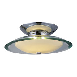 Curva 2-Light Flush Mount Saucer Lamp