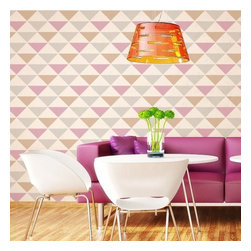 Cutting Edge Stencils - Triad Stencil Pattern Allover - DIY Home Decor by Cutting Edge Stencils, Small - Try wall stencils instead of expensive wallpaper! Cutting Edge Stencils offers the best stencils for DIY décor - stencils expertly designed by professional decorative painters Janna Makaeva and Greg Swisher who have over 20 years of painting experience. We are a reputable stencil company that stands behind its high quality product. We are honored to have your 100% positive feedback
