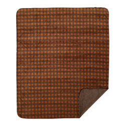 Throw Blanket Denali Gold-Taupe Buffalo Check/Taupe - Denali micro plush throws are considered the Cadillac of throws due to their rich colors and soft feel. These throws are softer and warmer than fleece.