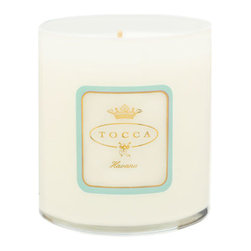 TOCCA 'Havana' Candela - The sweet yet spicy mix of sugarcane and rum are subtly combined to evoke the heart and soul of the Cuban capital.TOCCA's luxurious, scented candles inspire specific moods and emotions, destined to create an ambiance. The fragrances are perfectly paired with a clean-burning proprietary wax blend and 100% cotton wick for exquisite throw. Each hand-poured candle will enhance any room in your home or wherever life takes you.The 10.6 oz. candle burns for approximately 60 hours. Color(s): 000. Brand: TOCCA. Style Name: TOCCA 'Havana' Candela. Style Number: 619329.