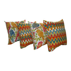Land of Pillows - Richloom Ash Hill Garden & Richloom Nivala Desert Outdoor Throw Pillow - 4 Pack - Fabric Designer - Richloom Solarium