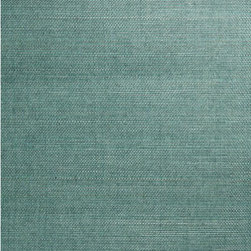 Kimiyo Aqua Grasscloth Wallpaper - A gorgeous turquoise colored grasscloth wallpaper with an eco-chic texture for walls.