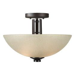 Forte Lighting - Forte Lighting 2404-02 14.5Wx9.75H Indoor Semi-Flushmount Ceiling Fixture - Contemporary / Modern Indoor Semi-Flushmount Ceiling Fixture
