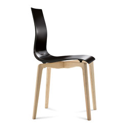 Domitalia - Gel-L Chair, Black - Sturdy ashwood base