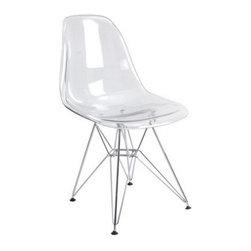 Modern Acrylic Side Chair - Modern Acrylic Side Chair