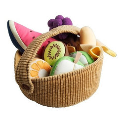 A Huldén/S Dahlman - Duktig 9-Piece Fruit Basket Set - Ikea has this most adorable (and affordable) basket of fruit. The whole set comes for only $7.99.