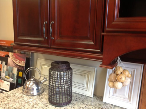 Hardwood floor color matching kitchen cabinets