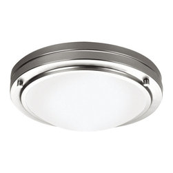 "Forecast Lighting - Forecast Lighting F2450N1 10.625"" Single Light Energy Efficient Convertible Wall - 10.625"" Single Light Energy Efficient Convertible Wall Sconce / Flush Mount Fixture with Etched Glass Shade from the West End CollectionThis 10.625"" single light flush mount fixture by Forecast Lighting features a stylish yet transitional design. This fixture is sure to make a stunning addition to your home.Features:"