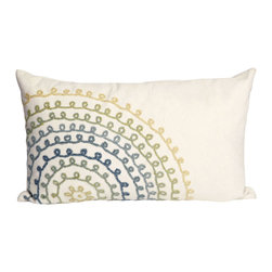 "Trans-Ocean - Ombre Threads Cream Pillow 4105/06 - 12""X20"" - The highly detailed painterly effect is achieved by Liora Mannes patented Lamontage process which combines hand crafted art with cutting edge technology.These pillows are made with 100% polyester microfiber for an extra soft hand, and a 100% Polyester Insert.Liora Manne's pillows are suitable for Indoors or Outdoors, are antimicrobial, have a removable cover with a zipper closure for easy-care, and are handwashable."