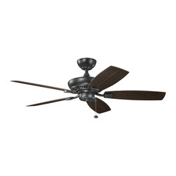 Kichler Lighting - Kichler Lighting 320500SBK Canfield Indoor Ceiling Fans in Satin Black - This Fan from the Canfield collection by Kichler will enhance your home with a perfect mix of form and function. The features include a Satin Black finish applied by experts. This item qualifies for free shipping!