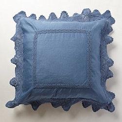 Anthropologie - Lovenia Embellished Euro Sham - *Cotton, linen