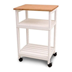 Counter Height Microwave Cart : : Microwave Cart.-Distressed: No.-Base Material: Rubberwood.-Counter ...