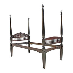 Anglo Indian Rosewood Four-Poster Bed - Ref: CH1723