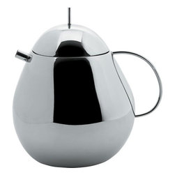 "Alessi - Fruit Basket Teapot - Kazuyo Sejima, together with Ryue Nishizawa, with whom he founded the SANAA studio, took part in the Tea and Coffee Towers project that saw 22 international architects compete for the first time in the arena of industrial design, with the mission of producing a service for tea and coffee. Their service, initially produced in a limited edition of 99 pieces and made of silver. Features: -Material: 18/10 Stainless steel, mirror polished. -Capacity: 47.3 ounces. -Dimensions: 6.89"" H x 6.77"" W x 5.35"" D."