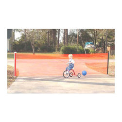 Kid Kusion - Kid Safe Driveway Guard - Keep children and their toys out of the street and out of danger with the retractable Driveway Guard. Use this product to establish a protective boundary for both children and drivers. Features: -Driveway guard.-Removes easily for storage and is reinstalled in seconds.-Retracts back into canister for easy storage.-The easy - to - use safety guard includes a retractable net with pole and two ground sleeves.-Distressed: No.-Country of Manufacture: United States.-Collection: Driveway Guards.-Product Type: Safety gates.-Powder Coated Finish: No.-Gloss Finish: No.-Material: Plastic; Metal -Material Details: Pvc; Galvanized Steel; olyethelene..-Hardware Material: Pvc; Galvanized Steel; Polyethelene.-Number of Items Included: 3.-Weather Resistant: Yes -Weather Resistant Details: Weather Resistant..-Water Resistant: No.-Age Range: 6-72 months.-Lifestage: Baby; Kid.-UV Resistant: Yes.-Mildew Resistant: No.-Fade Resistant: Yes.-Scratch Resistant: No.-Fire Resistant: No.-Non Toxic: Yes.-Intended Placement: Driveway.-Portable: Yes.-Adjustable Width: Yes.-Mounting Type: Hardware.-Door Included: No.-Lockable: No.-Memory Fit Feature: No.-Includes Extensions: No.-Includes Installation Kit: No.-Pet Compatible: No.-Outdoor Use: No.-Swatch Available: No.-Commercial Use: Yes.-Recycled Content: No.-Eco-Friendly: No.-Product Care: Do not use strong liquid cleaners.Specifications: -ASTM Compliant: Yes.-CSA Certified: No.-cETL Certified: No.-CPSIA or CPSC Compliant: Yes.-EPP Compliant: No.-FSC Certified: No.-FISP Certified: No.-JPMA Certified: No.Dimensions: -18' (Small): 36'' H x 216'' D.-25' (Wide): 36'' H x 300'' D.-Product weight: 6 lbs.-Overall Height - Top to Bottom: 36.-Overall Width - Side to Side: 36.-Overall Depth - Front to Back: 36.-Overall Product Weight: 8.Assembly: -Additional Parts Required: No.Warranty: -Product Warranty: 30 days from date of shipment.