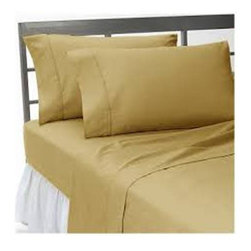 Hothaat - 400TC Solid Beige Full Fitted Sheet & 2 Pillowcases - Redefine your everyday elegance with these luxuriously super soft Fitted Sheet. This is 100% Egyptian Cotton Superior quality Fitted Sheet that are truly worthy of a classy and elegant look.
