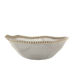 """Alessi - Alessi """"Peneira Collection"""" Basket - A-tisket, a-tasket, a cool and modern basket. Strong stainless steel mesh is formed into a wavy and organic shape with a natural, stitched rim. Available in three sizes, each would be great for holding fruit or decorative items on a tabletop."""