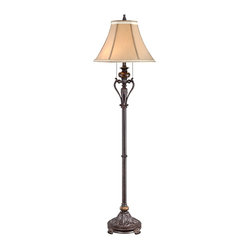 Traditional Kathy Ireland Amor Faux Marble Floor Lamp