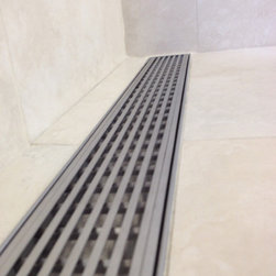 LUXE Linear Drains 100% Stainless Steel Shower Drain Products - #lineardrains