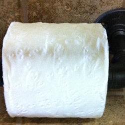 Towel Bars & Rings - Iron plumbing pipe toilet paper holder.
