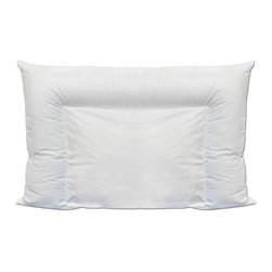 None - Angel Silk Crescent Down Alternative Pillow - Promote proper sleeping posture with this amazing pillow filled with luxurious angel silk down like fiber. 100-percent hypoallergenic, this pillow has a 2-in-1 support design for superior neck, back and limb support.