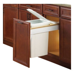 "Knape & Vogt - Waste/Recycle bin, Soft-Close feature, Top Mount-Door Mount, W""17.5 - Waste & Recycle unit comes with heavy duty full extension slides with a soft-close feature and 1"" overtravel adding luxury to your kitchen. Door mount brackets include six-way adjustability for precise door alignment."