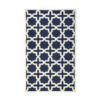 Cheshire Rug, Navy Blue - Some will see stars, others will see crosses, but everyone will admire this Cheshire area rug. It offers a heavy dose of navy for a room in desperate need of color.