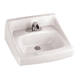 "Toto - Toto LT307 Cotton White Commercial Wall-Mount Lavatory ADA - The Toto LT307#01 is a Wall Mount Lavatory, from the Commercial Line From Toto USA. The Toto LT307#01 measures 21"" x 18 1/4"", Faucet Mounts on Single Hole and comes in Cotton White Finish"