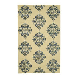 Safavieh - Safavieh Chelsea Country & Floral Hand Hooked Wool Rug X-5-A541KH - 100% pure virgin wool pile, hand-hooked to a durable Cotton backing. American Country and turn-of-the-century European designs. This collection is handmade in China exclusively for Safavieh.