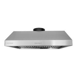 Super thick 1.0mm, Non-Magnetic / Rustproof commercial grade high quality stainl - XtremeAIR 36 Inch Under Cabinet Stainless Steel Range Hood UL11-U36 - XtremeAIR 36 Inch Under Cabinet Range Hood with 900 CFM Dual Blower, Stainless Steel Baffle Filters, Stainless Steel Oil Capture Tunnel, 3-speeds mechanical EZ push buttons, two x 2W energy efficient Led lights.