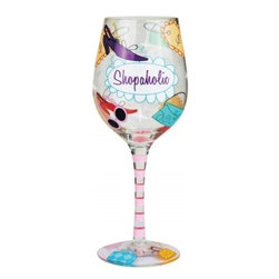 Westland - 9 Inch Colorful Shopaholic 15 Oz Wine Glass Covered in Price Tags - This gorgeous 9 Inch Colorful Shopaholic 15 Oz Wine Glass Covered in Price Tags has the finest details and highest quality you will find anywhere! 9 Inch Colorful Shopaholic 15 Oz Wine Glass Covered in Price Tags is truly remarkable.